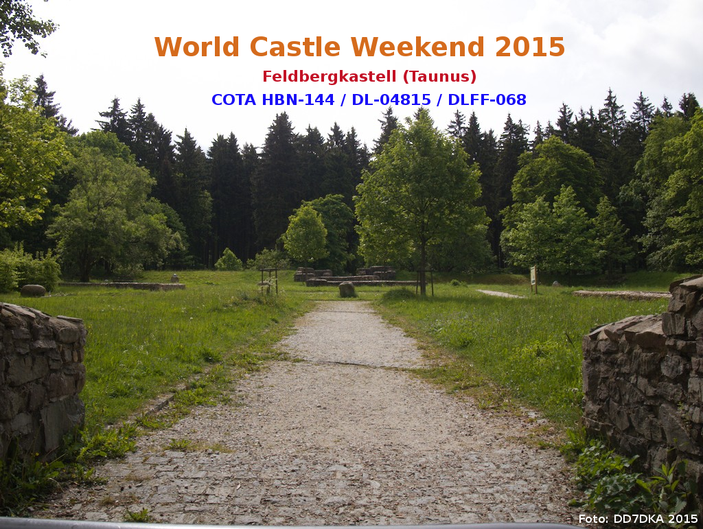World Castle Weekend 2015 - Limes (Hessen) - Feldbergkastell (Taunus)