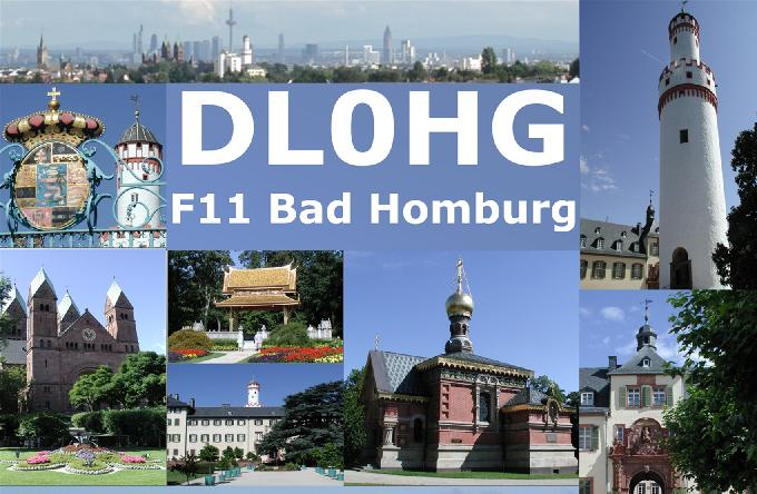 QSL Karte der Clubstation DL0HG